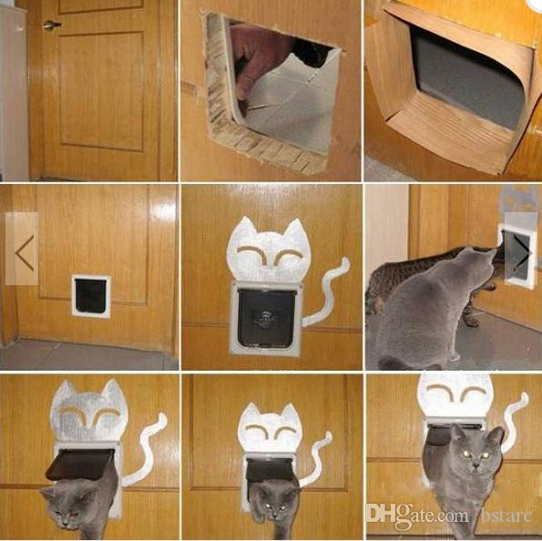 2018 4 way safe flap suitable locking pet door for cat - The kitty pass interior cat door ...