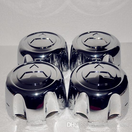 4x FÜR Mitsubishi Pajero Montero Delica Weltraum-Leichtmetall-Radnabenkappen Shogun, Pajero, Montero, Challenger, Delia, L200, L400 usw.