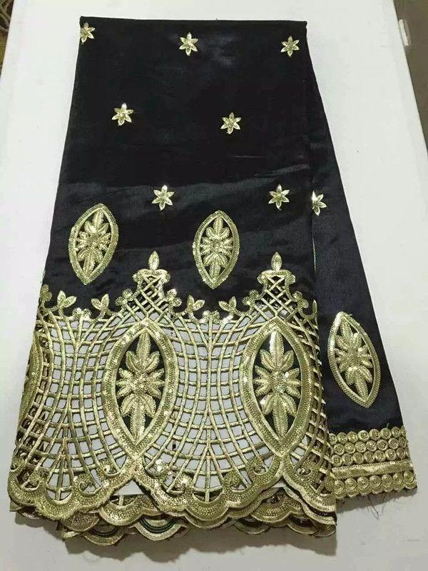 5 Yards / beyaz george dantel kumaş, Yeni moda çiçek giyim için örgü dantel nakış afrika dantel kumaş OG33-1
