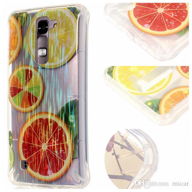 Mobile Phone Orange Deer For Iphone5 6 5.5 Soft TPU IMD Bling Diamond Cover Case Wiredrawing Shiny for LG K7 with Dustplug