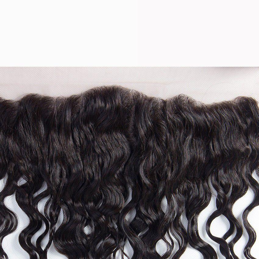 7А волна воды перуанские волосы с кружевом фронтальной дешевые 13x4 кружева фронтальная закрытие с человеческими волосами мокрой и волнистой 3 пучки 4 шт. Много