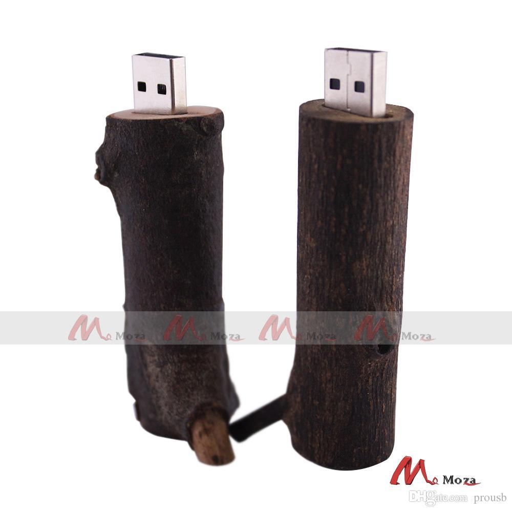 128MB/256MB/512MB/1GB/2GB/4GB/8GB/16GB Wood Twig USB Flash Drive 2.0 100% Real Storage Memory Thumb Stick with Cap
