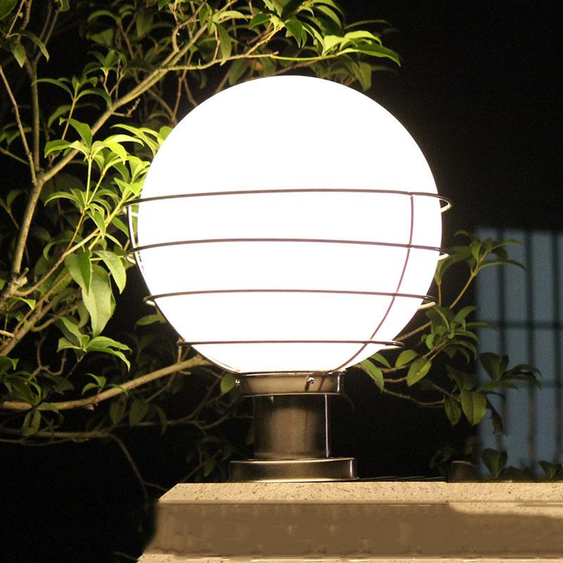 2018 Outdoor Lighting Ball Column Light Outdoor Pillar Outdoor Garden Lamp  Post White Transparent Acryl Ball E27 Bulb Wcs Ocl0020 From  Wecus_technology, ...