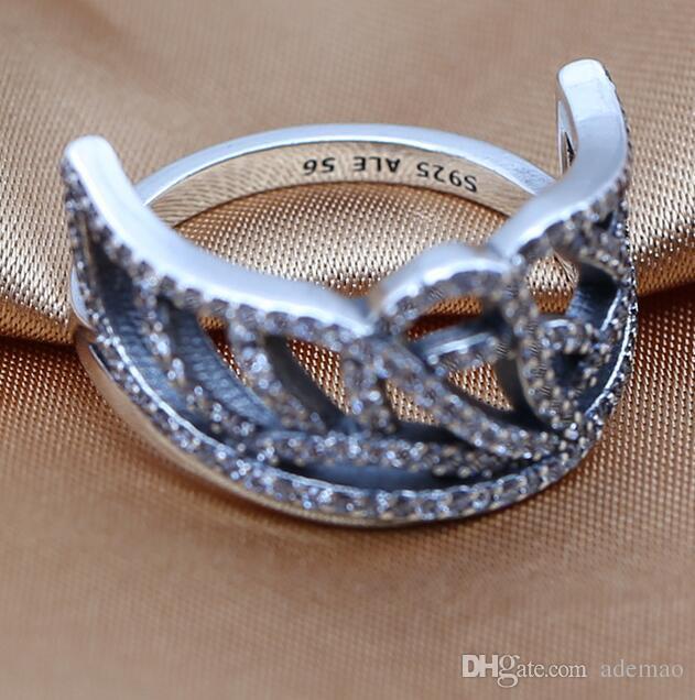 En gros 2016 charmes anneaux s925 ale argent sterling rétro bijoux anneaux avec anneaux ventes chaudes cadeau de noël