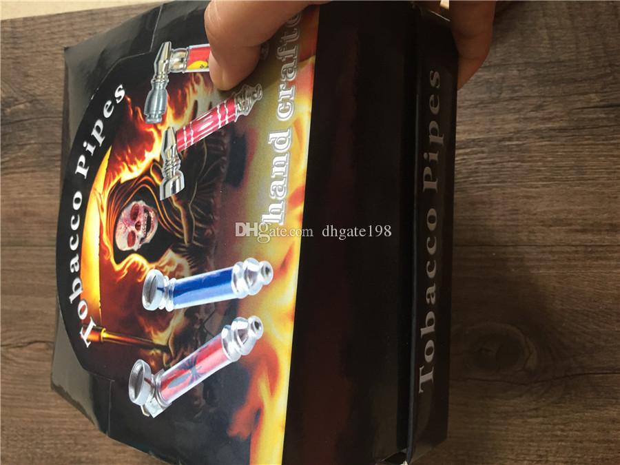 RAUCHERROHREN rauchende Metallpfeife für das Rauchen der Pfeifen des Tabakkrautrauches geben Verschiffen frei