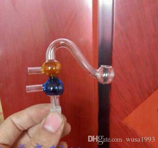 Vaso il filtro secondario, accessori narghilé all'ingrosso, Tubi di vetro Balaustra di vetro bong di vetro, bong di colore