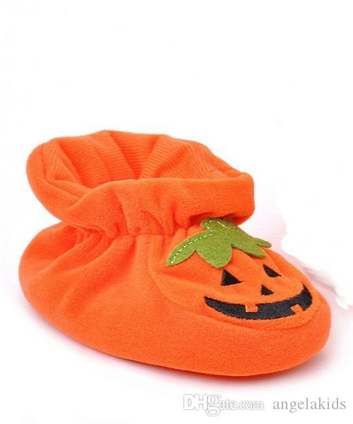 Childrens Shoes Baby Halloween Pumpkin Slipper Infant House Shoes Orange Soft Bottom Baby Shoes At Home