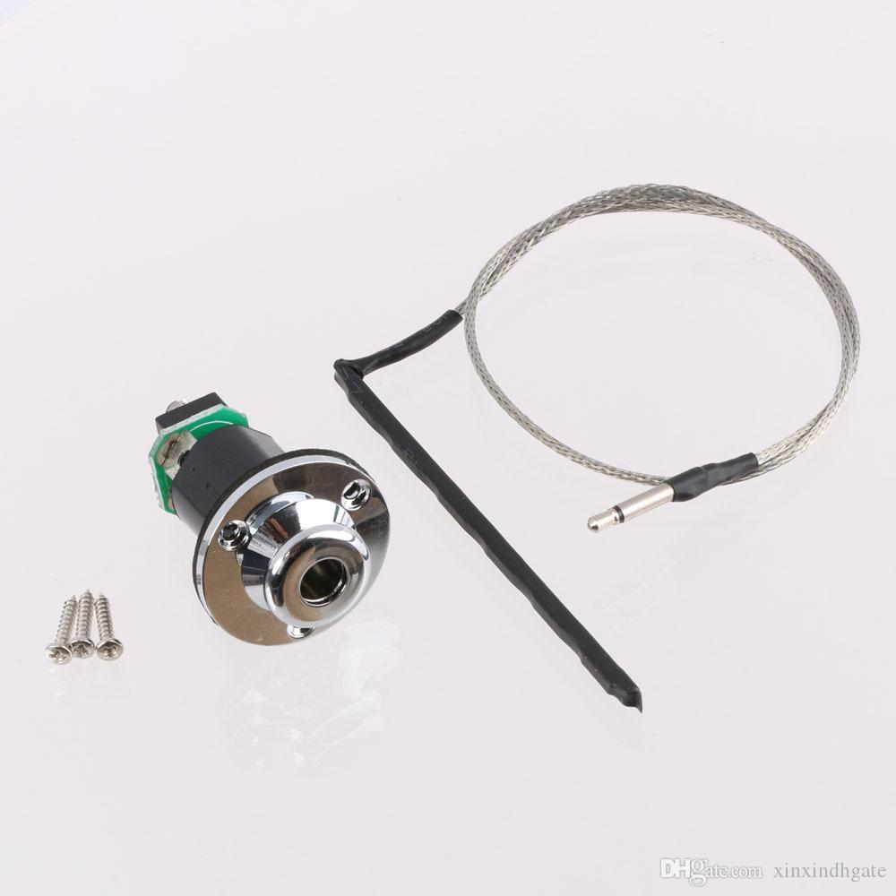 """1/4"""" End Pin Jack with Under Saddle Piezo Pickup for Acoustic Guitar"""