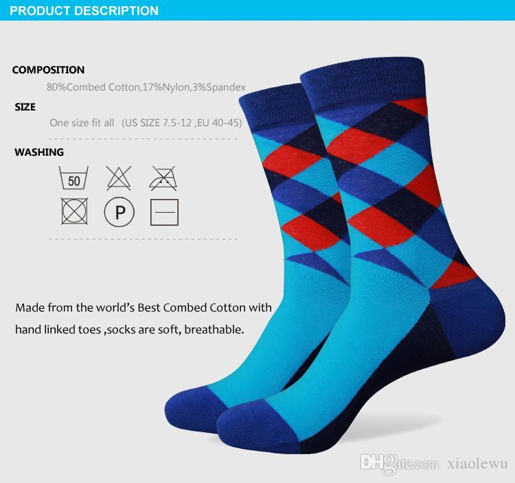 2016 nuovo stile tutti i calzini colourful dell'uomo di marca dei calzini dell'uomo di marca, calzino degli uomini, calzino del cotone Trasporto libero 265