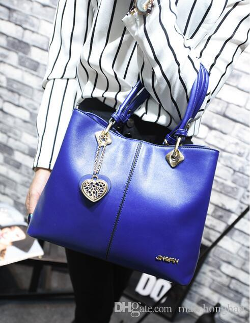 The new Europe fashion women handbag leather laides bag shimmer tote bag shoulder bag with low price ,