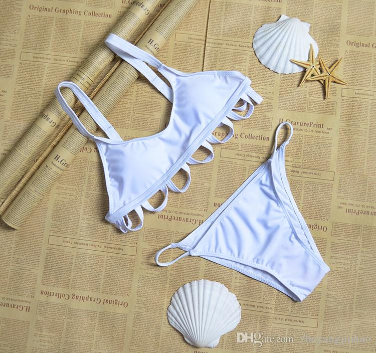 새로운 여성 seperate 비키니 여성 흰 서클 수영복 유방 패드와 철강 타워 없음 / M / L / XL no44