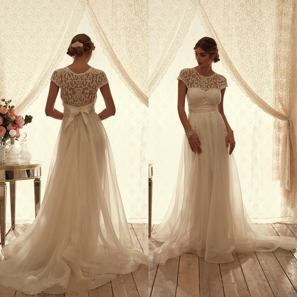Anna Campbell Wedding Gowns: Discount 2016 Anna Campbell Wedding Dresses Bridal Gowns