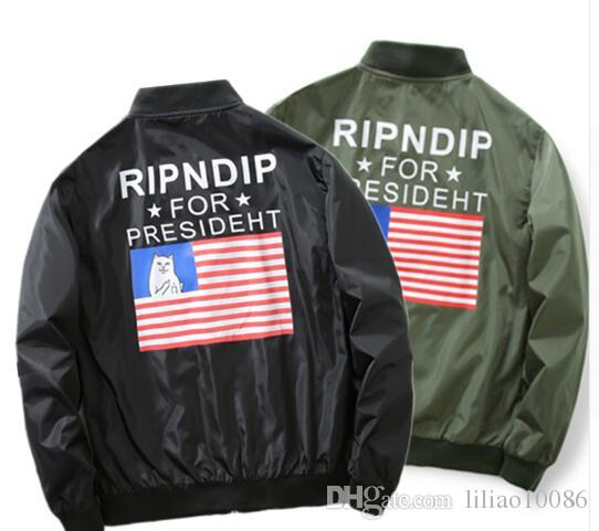 Ripndip Bomber Jacket Men Ma1 Usa Flag Kanye West For President ...