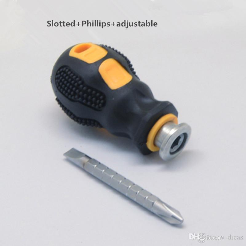 mini destornillador phillips ranurados rábano telescópico puntas de destornillador ultracorto herramienta pequeña destornillador uso de espacio estrecho