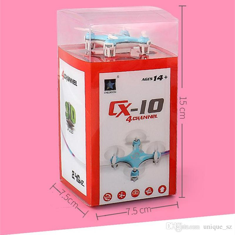 New Arrival CX-10 Mini 2.4G Remote Control Toys 4CH 6Axis RC Drone Quadcopter helicopter 4 Channel 2.4GHz 6-Axis Gyro UFO Airplane Cheerson