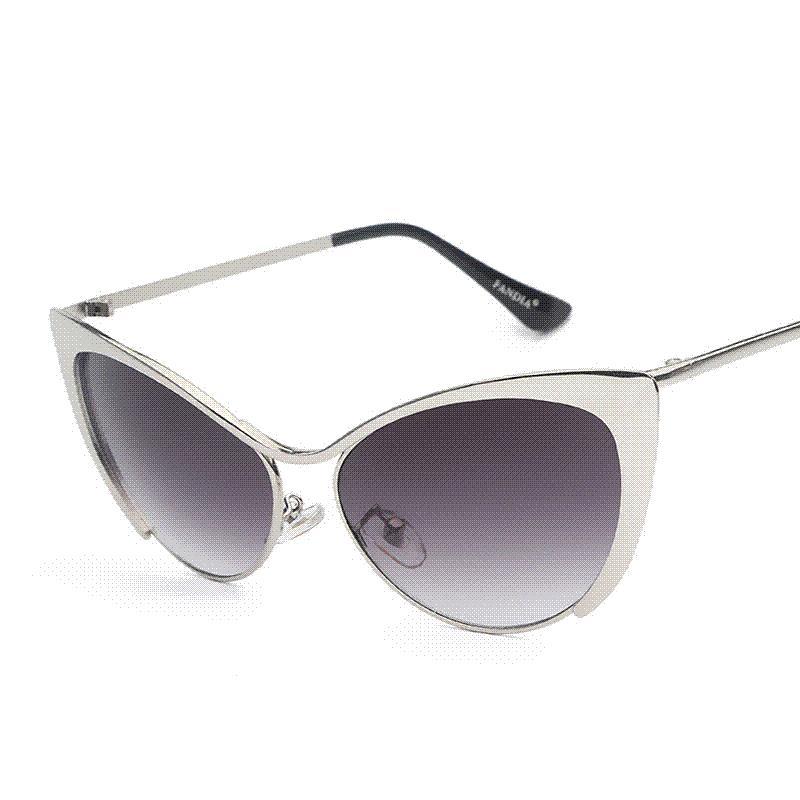 9466666b4b146 Luxus Metall Cateye Sonnenbrille Frauen Berühmte Marke Designer Sonnenbrille  China Hohe Qualität Punkte Stil Brillen Oculos De Sol