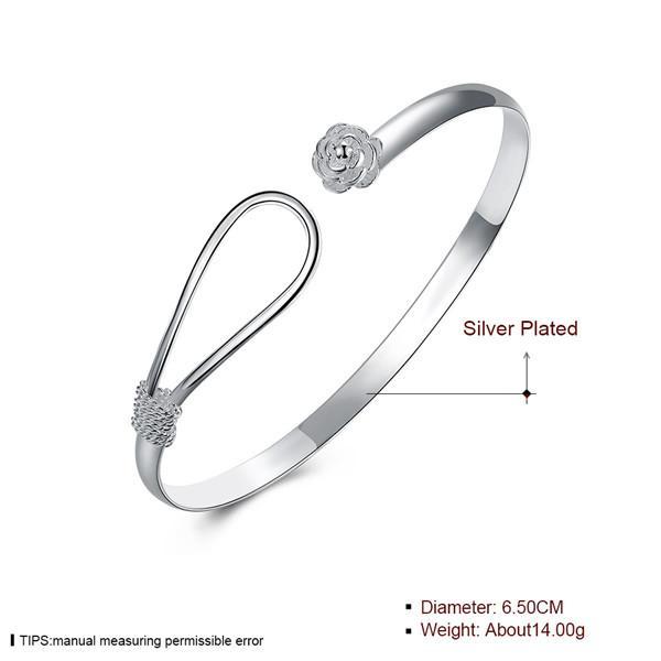 Top quality 925 esterlina banhado a prata charme bangles moda jóias para mulheres clássico belo presente estilos misturados Frete Grátis