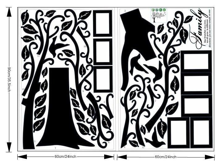 Wandaufkleber Wohnkultur Familie Bild Fotorahmen Baum Wandbild Kunst Aufkleber PVC Abziehbilder Wohnkultur tapete Haus