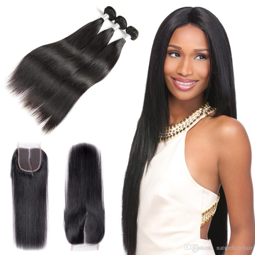 Cheap brazilian straight human hair weaves extensions 4 bundles cheap brazilian straight human hair weaves extensions 4 bundles with closure free middle 3 part double weft dyeable bleachable 100g pc human hair weave for pmusecretfo Gallery
