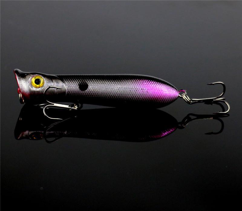 Новый Поппер колебание рыболовную приманку 8 см 11 г имитирует попер приманки плавающей плавание crankbait искусственный жесткий Bait