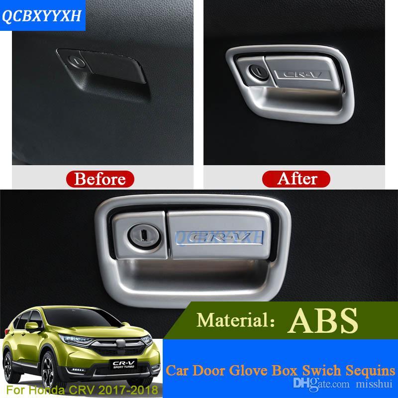 ABS voiture styling porte de voiture commutateur boîte à gants paillettes pour Honda CRV 2017 2018 décorations internes autocollants auto cadre intérieur