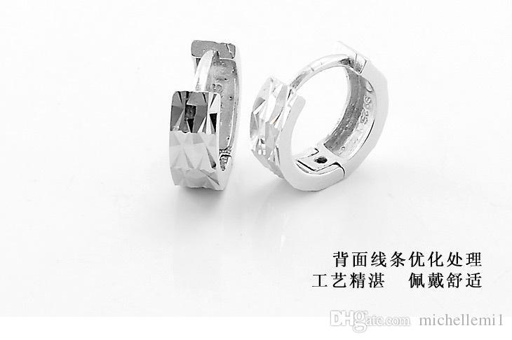 S925 orecchini gioielli in argento sezione moda orecchini in argento sterling orecchini con fibbia orecchio al cento cento grafico colpo reale th