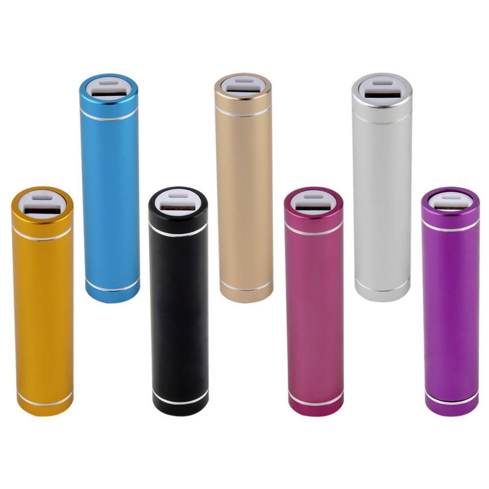Silindir Metal Taşınabilir USB Mobil Güç Banka Şarj Paketi Kutusu Pil Kutusu 1A için 1x18650 DIY Lehimsiz
