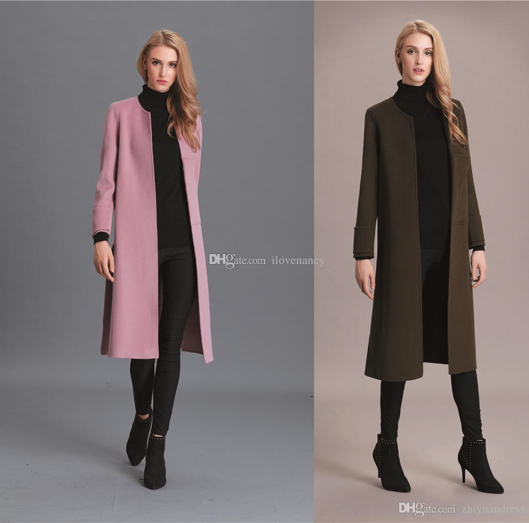 2017 Womens Wool Coats 2017 High Quality Girls Long Winter Coats ...
