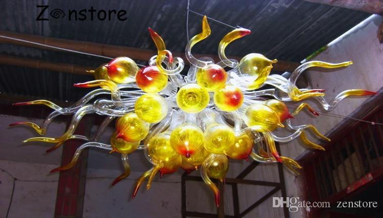 Unique Design Glass Bubble Pendant Chandeliers High Hanging Ceiling Decor LED Bulbs Hand made Blown Glass Chandelier