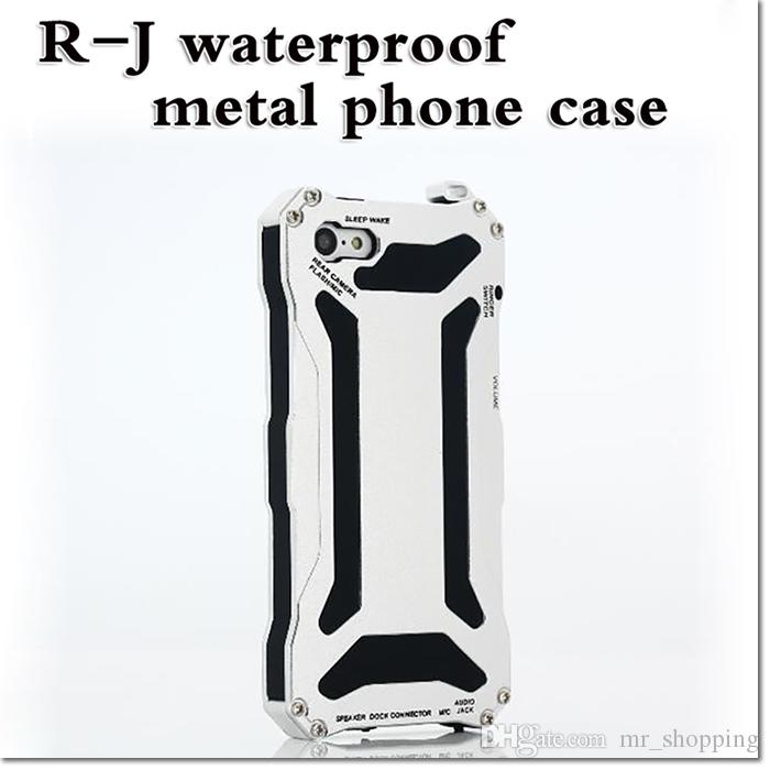 2016 new design hybird armor case R-J waterproof metal full body cell phone protector for iphone 5 5c 6 6plus samsung s6 note 5 dhl free