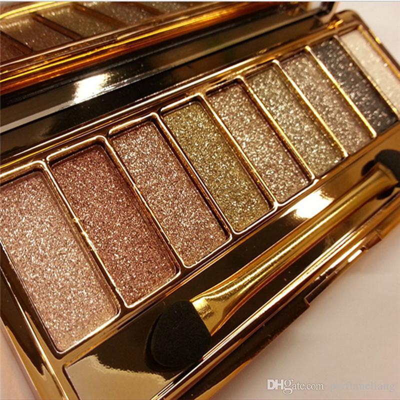 Professionelle 9 Farben Diamant Helle Bunte Make-Up Lidschatten Super Make-Up Set Blitz Glitter Lidschatten-palette Mit Pinsel WB0250