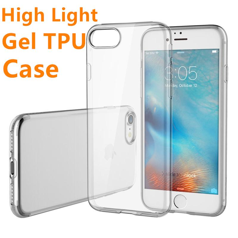89e328e28 High Clear Case For IPhone 7 6 Plus Samsung S8 S7 Clear Gel LG G6 G5 TPU  Case High Transparent Soft TPU Cover Cell Phone Cases Cheap Custom Leather  Cell ...