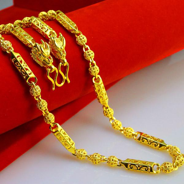Do not fade thailand leading chain gold necklace gold for Does gold plated jewelry fade