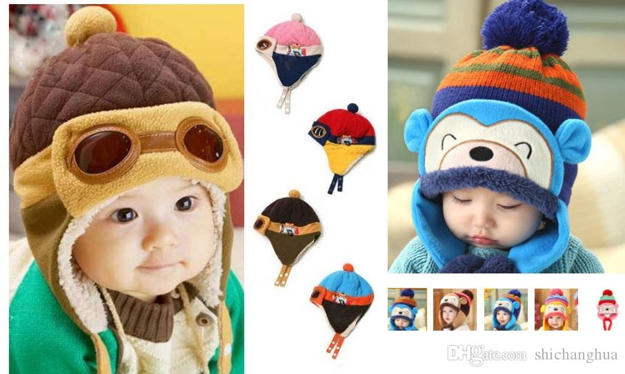 87d5ecb2ba6 Winter New Style Baby Plush Cap Diary of Lei Feng Boys Girls Hat ...