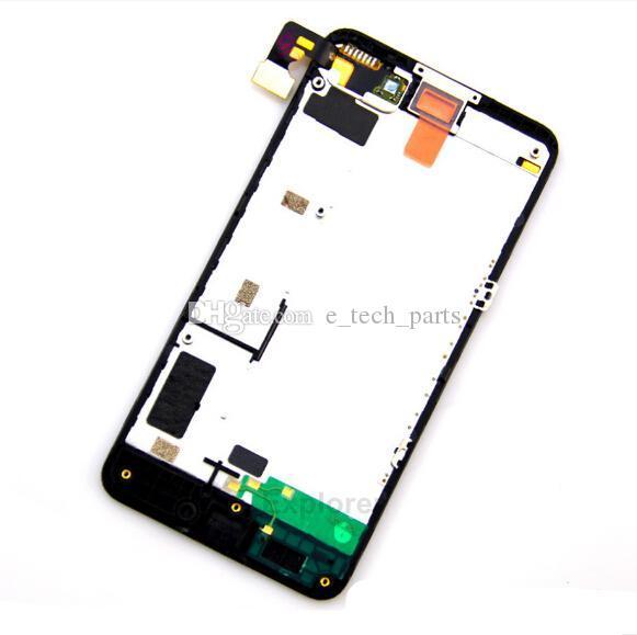 1 adetgrup Nokia Lumia 635 N630 Için Orijinal Test Geçti LCD Ekran + Çerçeve ile Dokunmatik Ekran Digitizer meclisi + Araçları Yedek parçaları