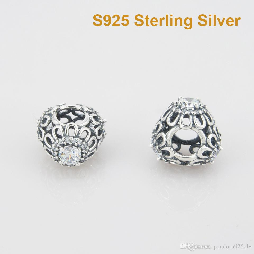 37c2749a4 2019 Fits Pandora Bracelet&Charms FLORAL BRILLIANCE OPENWORK CHARM DIY Beads  Solid 925 Silver Not Plated From Pandora925ale, $10.06 | DHgate.Com