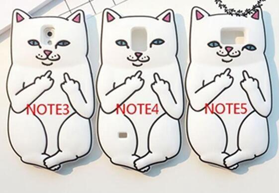 3D Ripndipp Pocket Cat Cartoon Custodia In Silicone Morbido Samsung Galaxy J310 J510 J710 J5 J7 J7 A7 E7 G530 G360 Medio Finger Capa Skin Cover