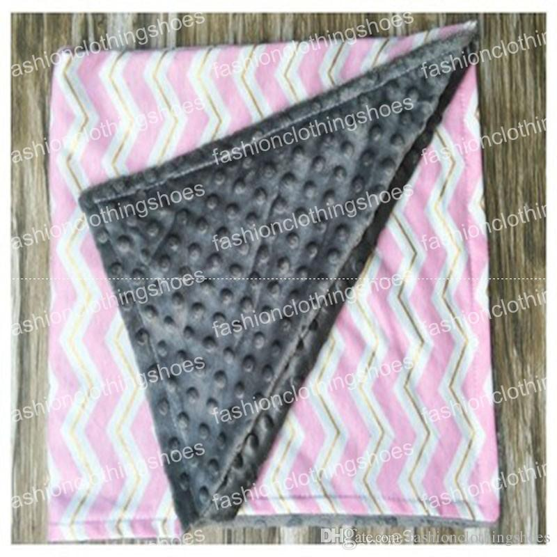 Bebê Ins Handmade Minky Cobertores Infantil Stripe Ziguezague Swaddle Chevron Envoltório Recém-nascido Swaddling Moda Carrinho de Bebê Manual Do Berçário Do Berçário Da Cama