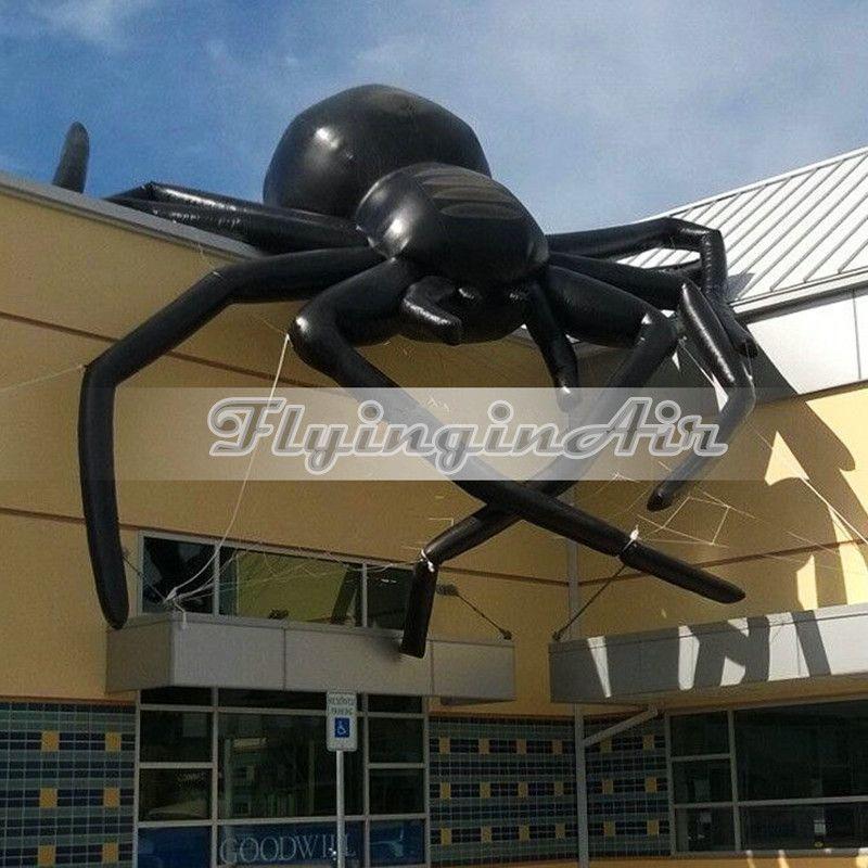 2018 Giant Horrific Halloween Black Inflatable Spider For