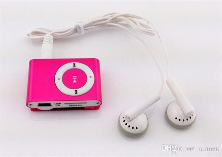 Mini Clip MP3 Player - 2015 HOT! Cheap Colorful Sport mp3 Players Come with Earphone, USB Cable, Retail Box, Support Micro SD/TF Cards