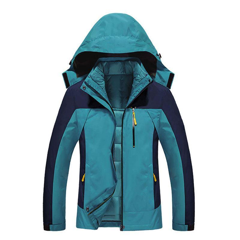 fd50ff8373 Women 3 In 1 Jacket Winter Climbing Waterproof Thermal Hiking Down Jacket  Outdoor Sport Skiing Camping Windproof Jacket Women M 3XL UK 2019 From  Yymq0404