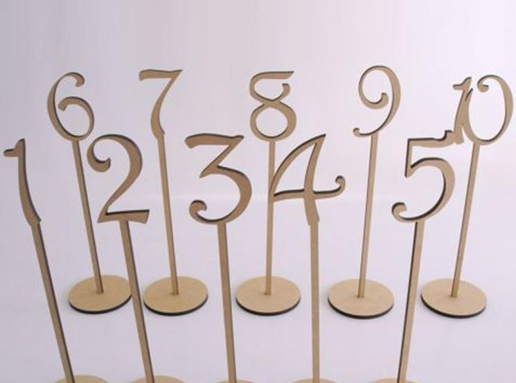 new arrival rustic hessian wedding table decoration Wooden wedding table number holder party table number tag stand
