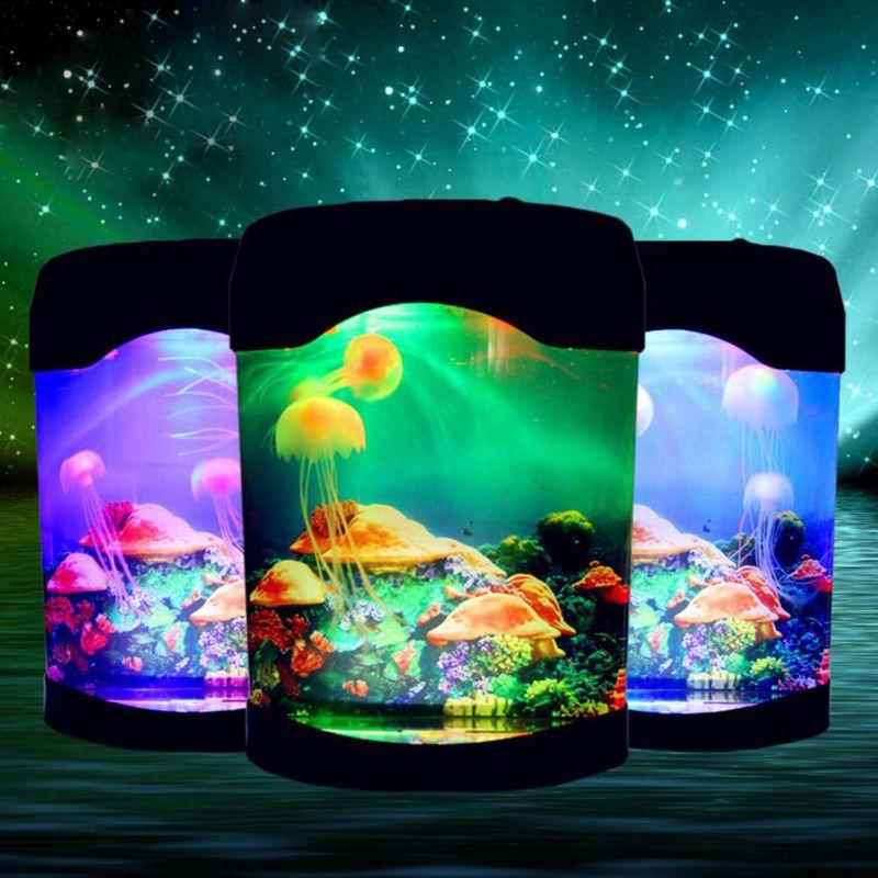 New Indoor Lighting Aquarium Lights Acrylic Small Led Colorful