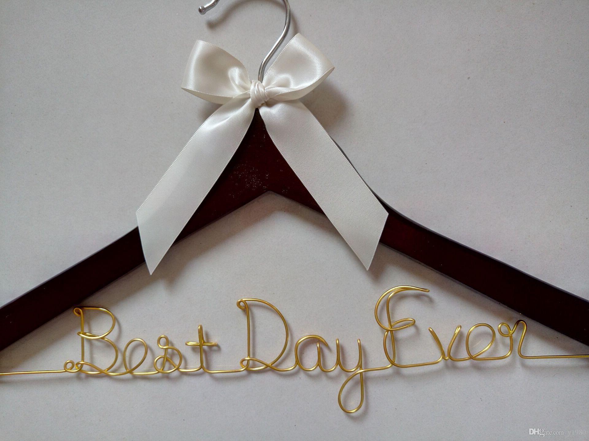 Custom Wedding Hanger,Personalized Bridal Hanger,Single Line Wire ...