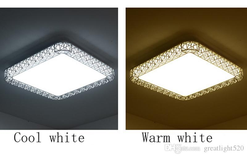 Moda Kuş Yuvası Tavan Lambaları Yüksek kaliteli # 11 seçmek için Luminarias para metali Kare kolye ışık kare ve yuvarlak bir şekil led LED
