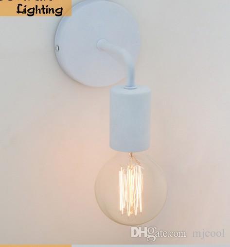 Lámparas de pared de la vendimia Americana Americana Iluminación Industrial Lámparas de la Cama Luces de Pared Para Decoración del Hogar ENegro / Blanco