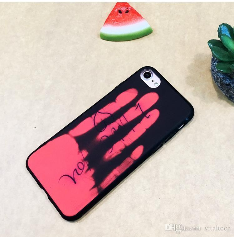 Hot Sensor Thermal Induction Discoloration Phone Cases For Apple iPhone 7 6 6S Plus Case 7Plus Hard Cover For iPhone6S Shell