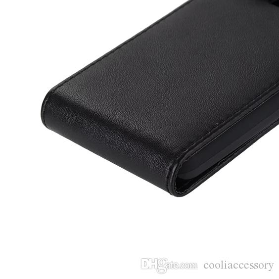 For Sony Ericsson Xperia E5 C6 Samsung Galaxy J1 MINI J3 PRO Flip PU Leather Pouch Case Vertical Black Cell Phone Pocket Skin Cover Luxury