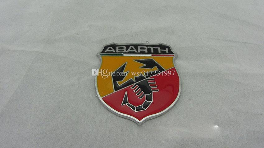 20 ADET / GRUP Yepyeni Çivisiz Metal Yapıştırıcı 3D Rozeti Fiat Abarth 124/125/125/500 için Amblem Sticker Çıkartma