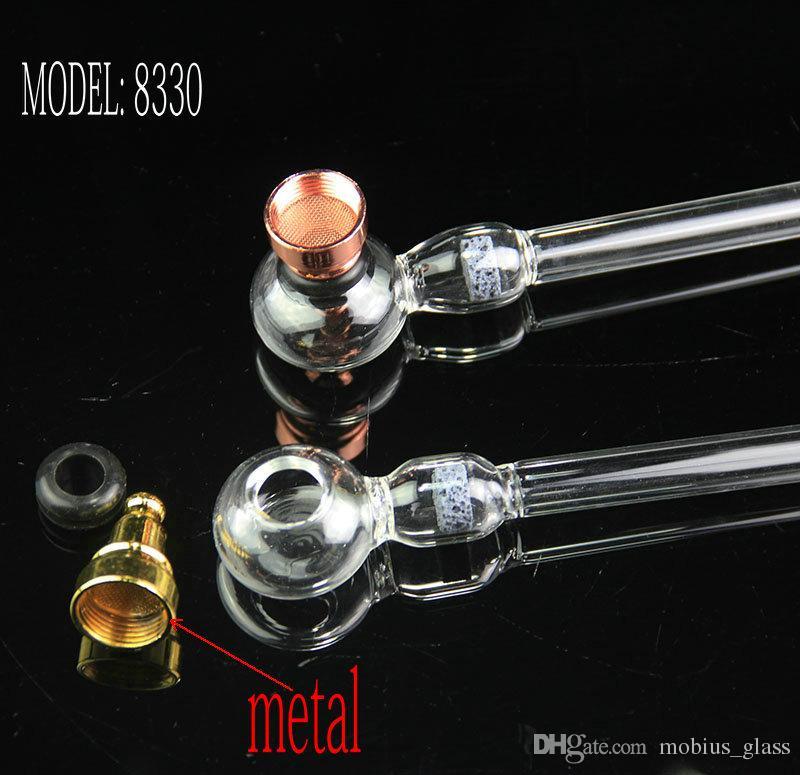 deux fonctions nouveau brûleur à mazout en verre et pipes à tabac avec percolateur en nid d'abeille